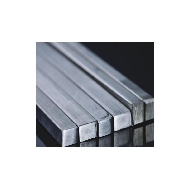 Stainless steel square rod bar full material square bar profile bar V2A,  stainless steel