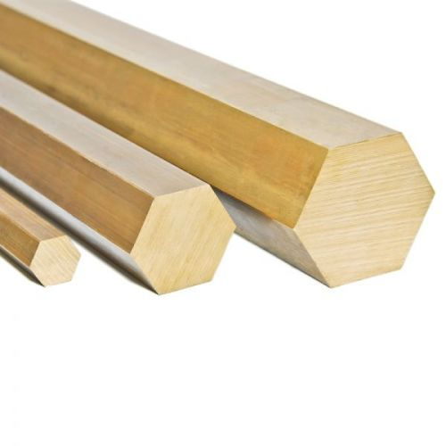 Brass hexagon Ø9mm 2.0401 CuZn33Pb3 Ms58 rod Hexagon hexagon rod, brass