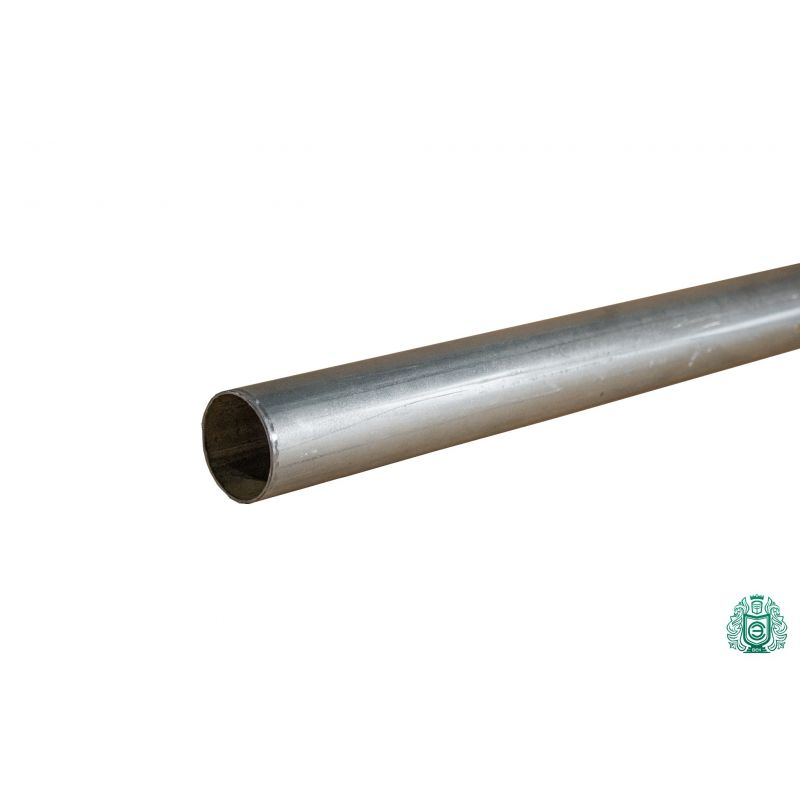 Galvanized steel pipe construction pipe railing thread metal round Ø 50x1.4mm