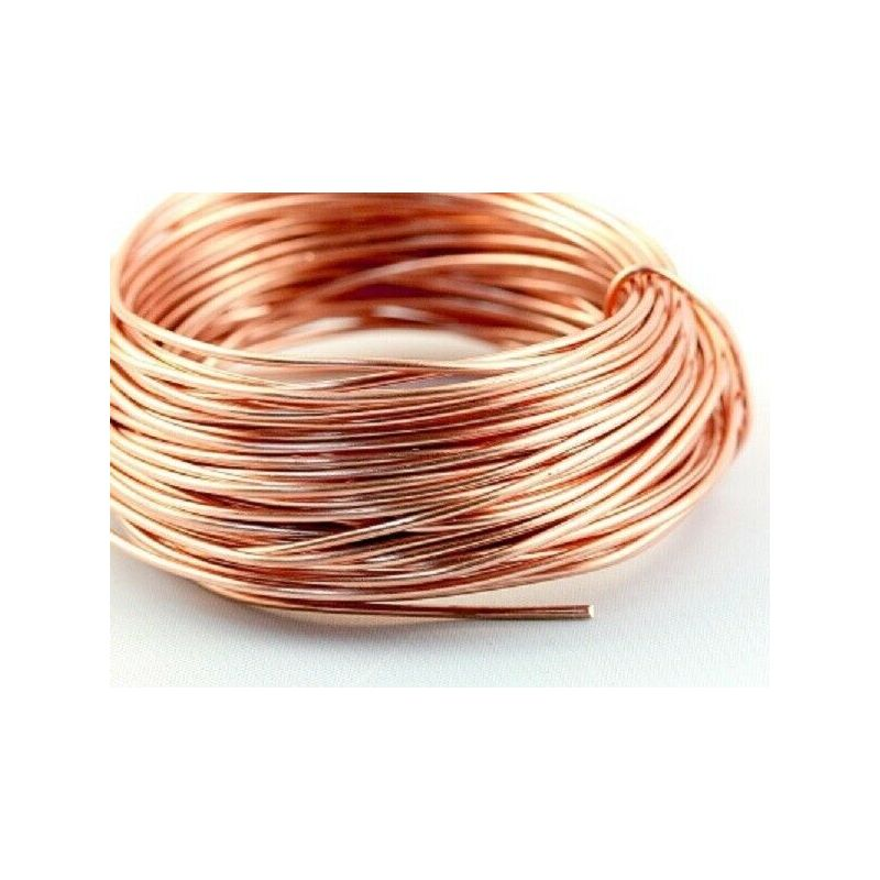 Copper wire blank Ø0.1-5mm without varnish uncoated Cu 99 craft wire 2-750 meters
