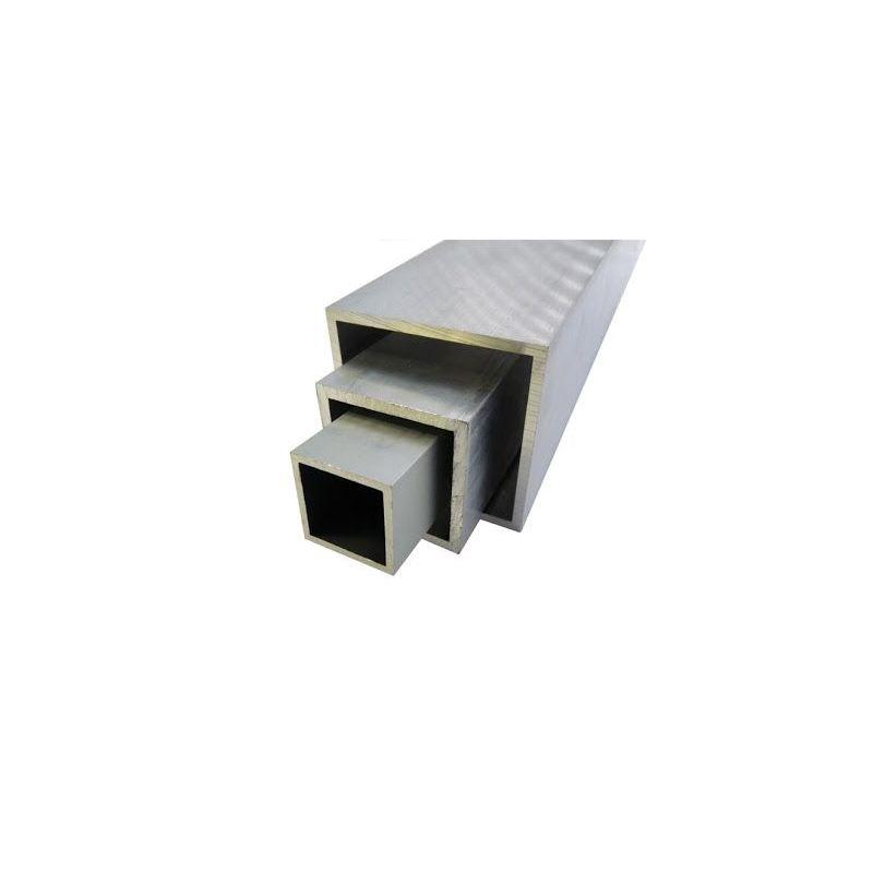 Aluminum square tube 20x20x2-100x100x4mm AlMgSi0.5 square tube 0.2-2 meters