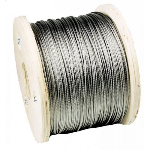 Stainless steel wire rope dia 1-8mm 1.4406 V4A 5-250 meters 7x7 and 7x19 steel rope
