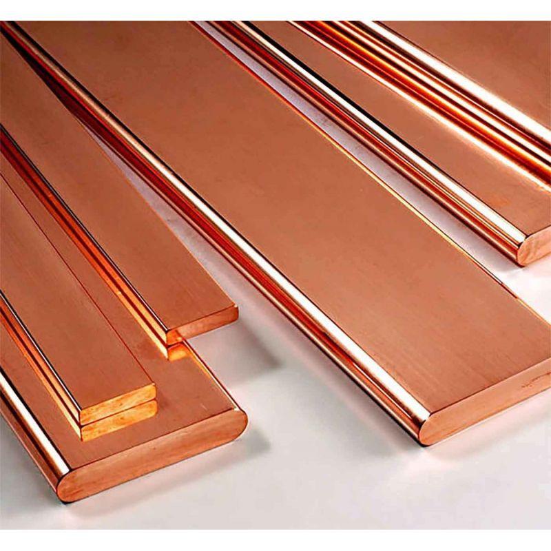 Copper flat bar 30x2mm-90x12mm strips of sheet metal cut to 1.5 meters