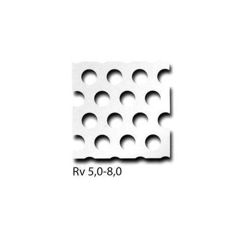 Perforated sheet aluminum RV3-5 + RV5-8 + RV10-15 panels can be cut to size, desired size possible 100mm x 700mm