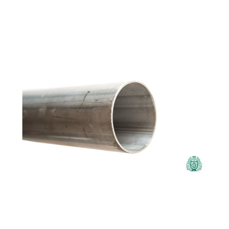 Stainless steel pipe railing 1.4301 28x1mm round pipe V2A exhaust Aisi 304 metal construction 0.25-2 meters, stainless steel