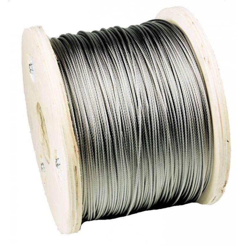 1-200 meters stainless steel wire rope Ø3mm stainless steel wire steel rope, stainless steel